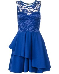 Royal blue skater dress medium 647595