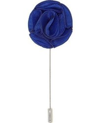 River Island Dark Blue Flower Lapel Pin