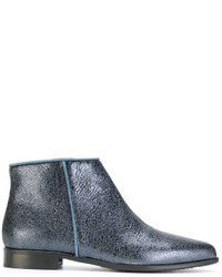 Anna Baiguera Crackled Ankle Boots