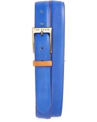 Ted Baker London Britone Colorblock Leather Belt
