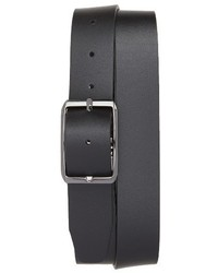 Canali Carbon Leather Belt