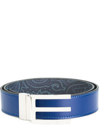 Etro Logo Buckled Belt