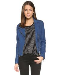 Leather moto jacket medium 346457