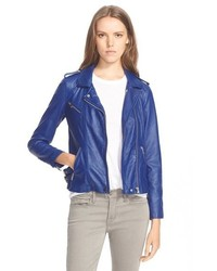 Rebecca Taylor Washed Leather Moto Jacket