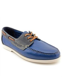 Cole Haan Fire Island Boat Blue Leather Boat Shoes