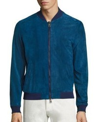 Etro High Tide Leather Bomber Jacket