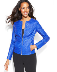 Quilted faux leather jacket medium 238529