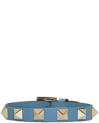 Valentino Blue Garavani Leather Single Rockstud Bracelet