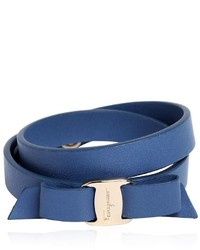 Salvatore Ferragamo Doubled Leather Bracelet W Bow