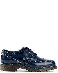 Blue Leather Brogues