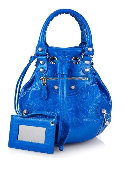 ... Bags Balenciaga Giant Pompom Leather Bucket Bag ... 0eab4f3513de0