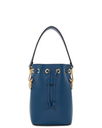 Fendi Navy Mini Mon Tresor Bucket Bag