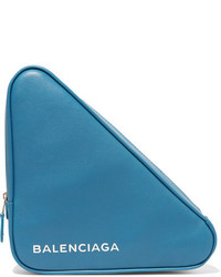 Balenciaga Printed Leather Pouch Teal