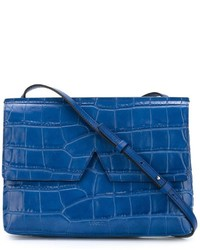 Vince Crocodile Skin Effect Crossbody Bag