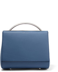 Eddie Borgo Dean Mini Doctor Matte Leather Shoulder Bag Blue