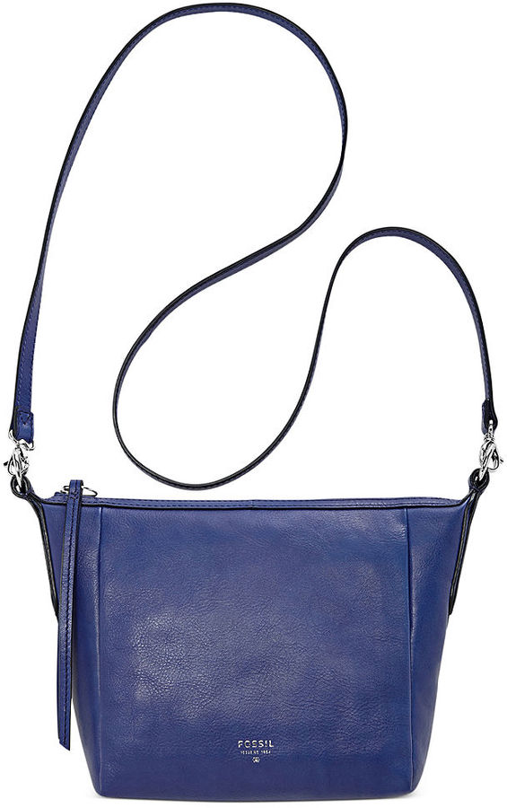 Blue Leather Crossbody Bag: Fossil Sydney Leather Crossbody | Where to ...