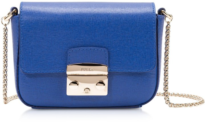b9ec7a1efcd631 Furla Metropolis Saffiano Leather Mini Crossbody Bag Wchain, $248 ...