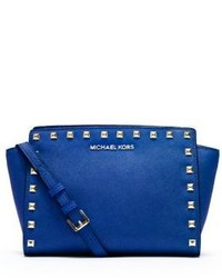 Michael Kors Michl Kors Selma Medium Studded Leather Messenger
