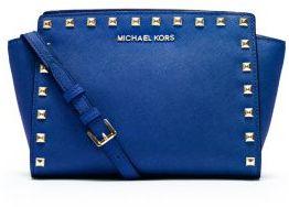 b25f8dafa116e5 Michael Kors Michl Kors Selma Medium Studded Leather Messenger, $248 ...