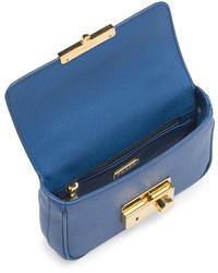 Prada Saffiano Mini Crossbody Clutch Blue | Where to buy \u0026amp; how to wear