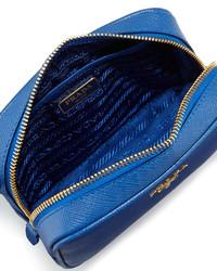 Prada Saffiano Small Crossbody Bag Cobalt Blue | Where to buy ...