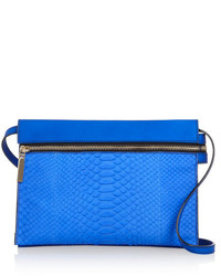 Victoria Beckham Python And Textured Leather Shoulder Bag