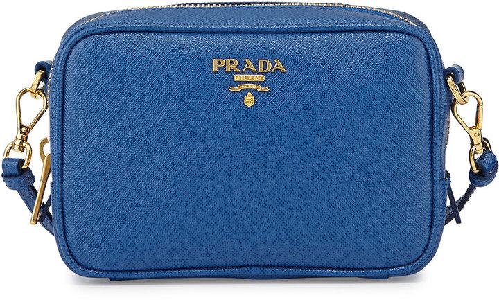 bd6493a93843 ... Prada Saffiano Small Crossbody Bag Cobalt Blue ...
