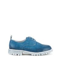 Diego Vanassibara Denim Effect Derby Shoes