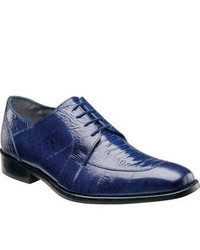 Stacy Adams Pisa 24826 Dark Blue Leather Moc Toe Shoes