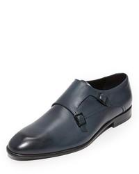 Hugo Burnished Toe Double Monk Shoes