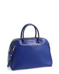 Milly Blake Medium Leather Satchel Blue