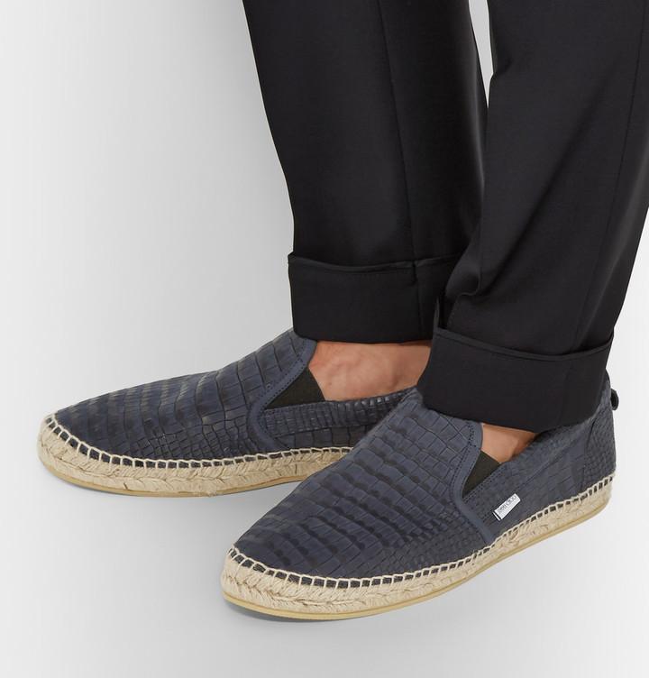 Jimmy Choo Vlad Croc Effect Leather