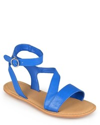 Journee Collection Crossing Gladiator Flat Sandals