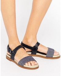 G Star G Star Remi Espadrille Leather Flat Sandals