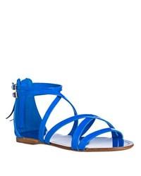 Miu Miu Miu Neon Patent Leather Flat Sandals