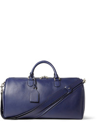 Blue Leather Holdall