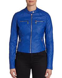 Joujou Cord Stitched Faux Leather Jacket