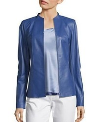 Lafayette 148 New York Kyla Paneled Leather Jacket