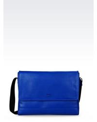 Emporio Armani Messenger Bag In Saffiano Calfskin