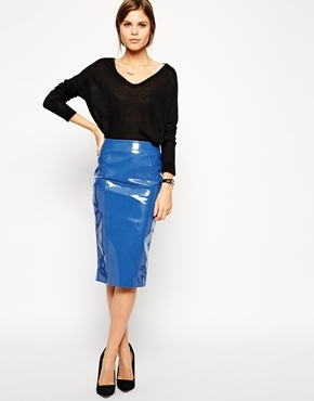 2f6d9c165c Asos Pencil Skirt In Patent Pu, $70 | Asos | Lookastic.com