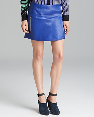 Diane von Furstenberg Mini Skirt Liam Leather