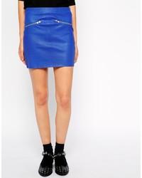 American Retro Nl Leather Skirt