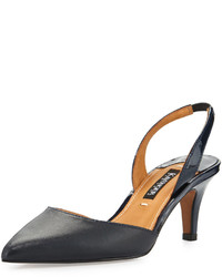 Kay Unger Baylee Patent Leather Pump Navy