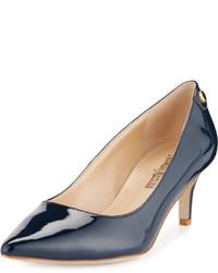 Neiman Marcus Stroll Low Heel Pump Navy