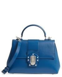 Dolce & Gabbana Dolcegabbana Medium Lucia Leather Satchel Blue