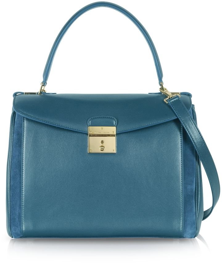 ... Accessories › Bags › Satchel Bags › Blue Leather Satchel Bags