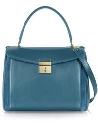 Metropolitan flap top leather satchel bag medium 15308