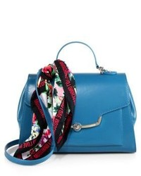 Love Moschino Top Handle Faux Leather Satchel Scarf