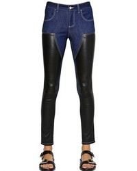Givenchy Nappa Leather Cotton Denim Jeans
