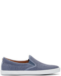 Jimmy Choo Navy Embossed Demi Slip On Sneakers